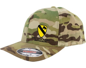 0c5054f0342a0 Army 1st Cavalry Division Full Color Flexfit Hat