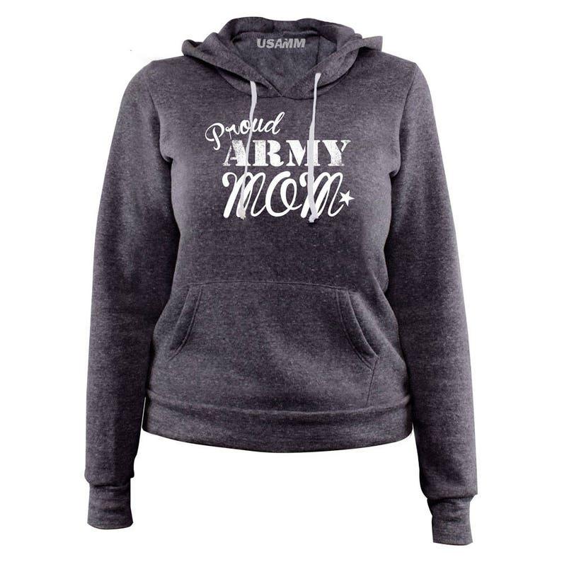 Ladies Original Proud Army Mom Pullover Hoodie