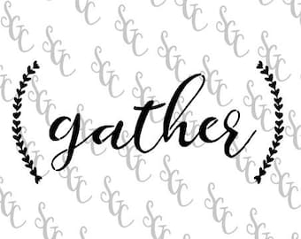 Reusable Stencil - Gather with Ferns - Many Sizes to Choose from!