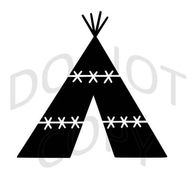 Reusable Stencil Teepee Many Sizes To Choose From Etsy