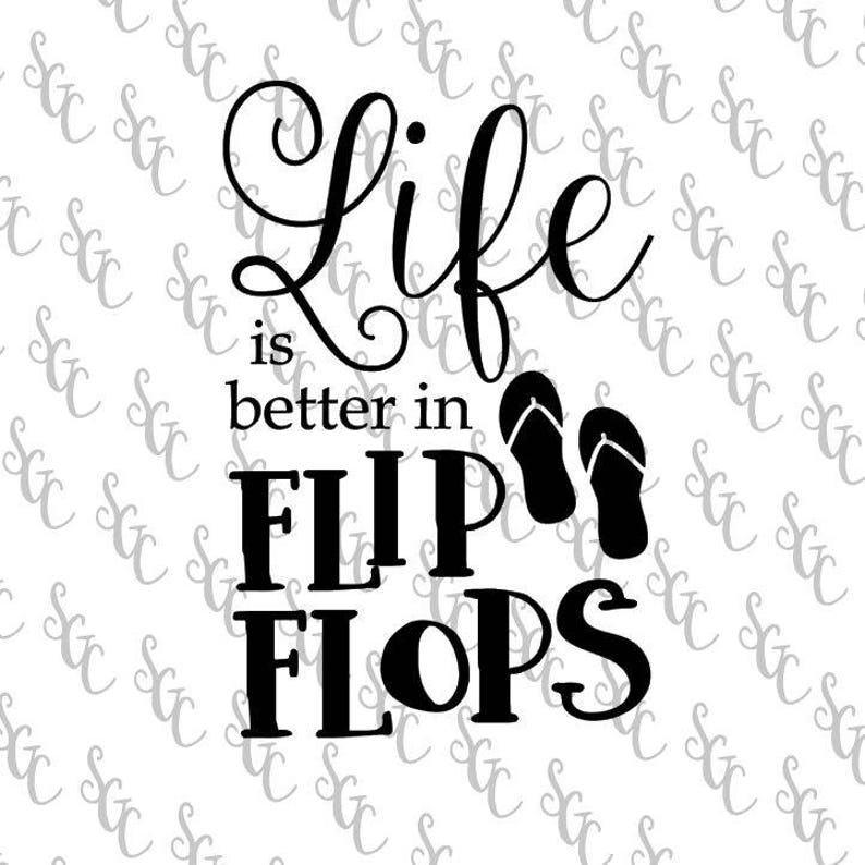 5d4d12f39 Reusable Stencil Life is Better in Flip Flops 2 sizes to