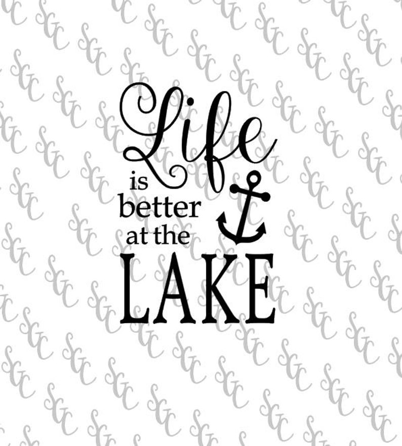 99a4b43f1 Reusable Stencil Life is Better at the Lake 2 sizes to