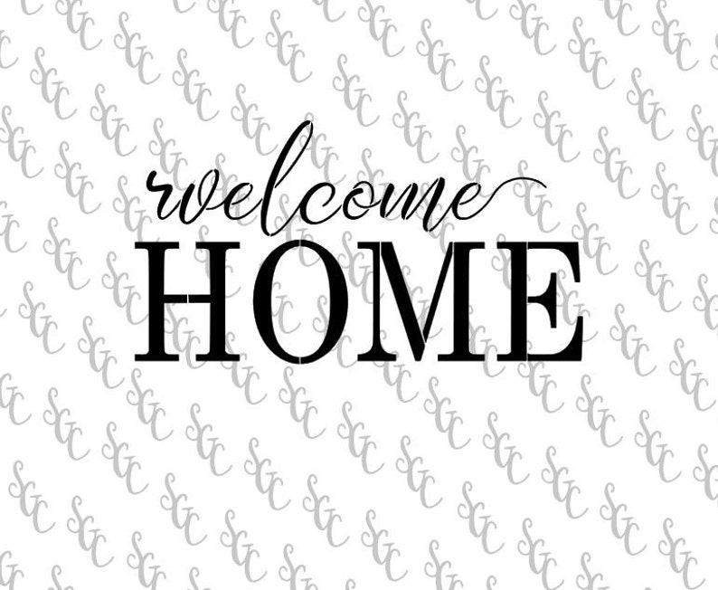 bc60db167 Reusable Stencil Welcome Home Many Sizes to Choose from