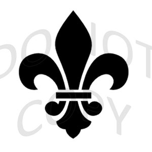 Stencil fleur de Lys heraldry Lily-BE88