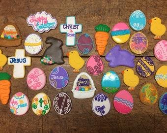 Easter, rabbit, bunny cookies