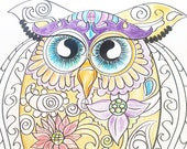owld Adult Coloring - Dig...