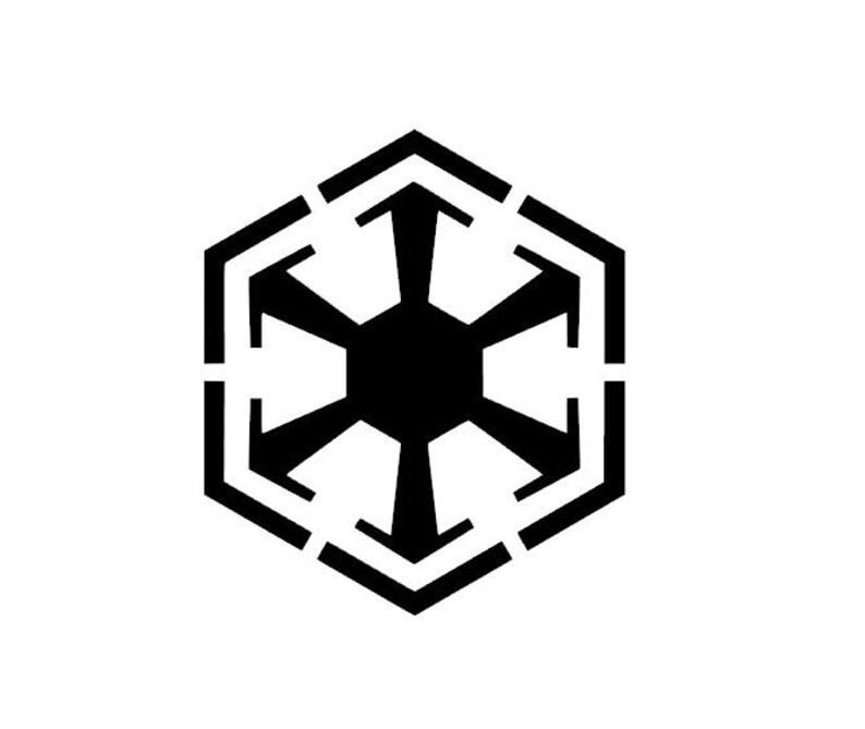 Star Wars Sith Empire Logo Vinyl DecalBumper Sticker