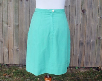 1980s Mint Green De Fini Skirt -- LAST CHANCE CLEARANCE