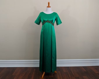 1960s Emerald Green Evening Dress
