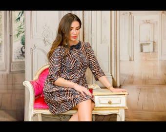 order Meliane: jewel neck dress