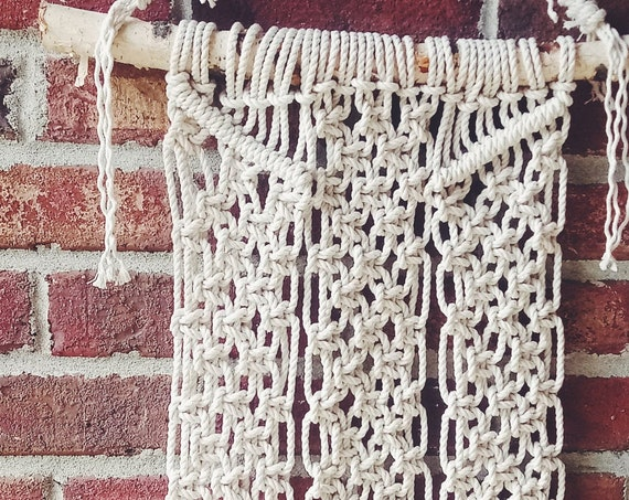 Birchwood Macrame Wall Hanging