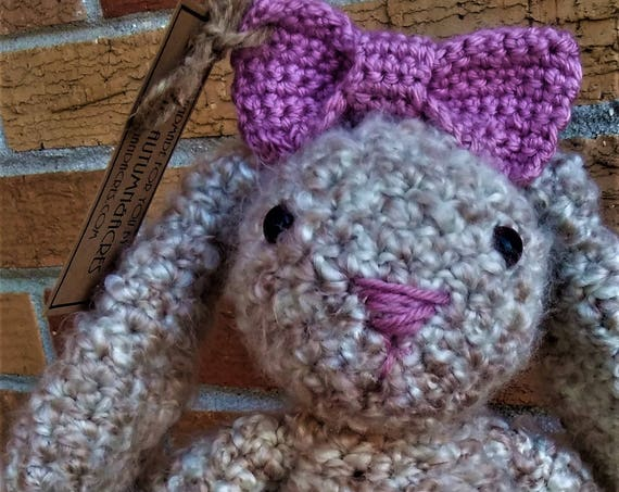 Crochet Amigurumi Bunny Rabbit Stuffed Animal (Logan)