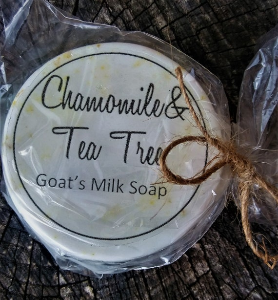 Set of 3!!! Chamomile Tea Tree Goat's Milk Soap