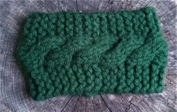 Forrest Green Chunky Cable Knit Earwarmer (CHOOSE YOUR COLORS)