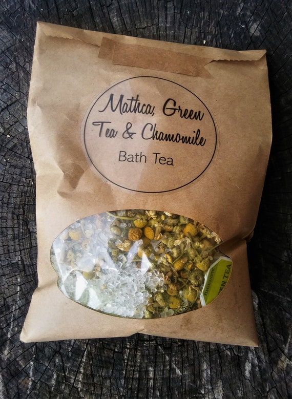 Organic Matcha and Chamomile Bath Tea