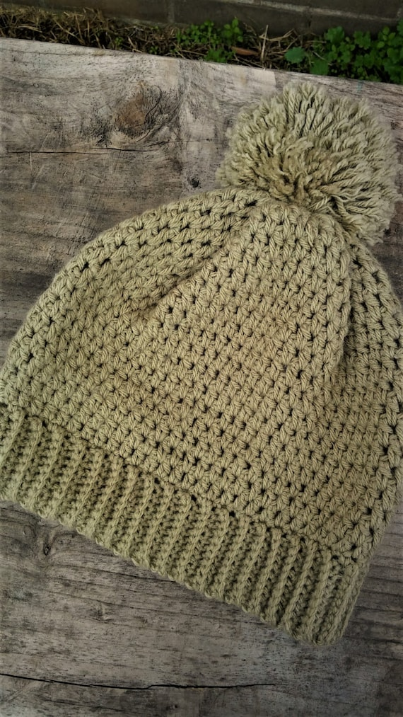 Warm taupe Pom Pom Beanie (CHOOSE YOUR COLOR)