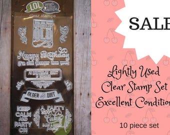Funny Birthday Stamp Set/ funny stamps/ birthday stamps/ clear stamp set/ LOL stamps/ funny birthday stamp/ stamp/ sale/ stamp set