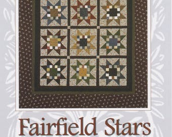 Fairfield Stars, Touchwood Quilt Design, Quilt and Table Runner Pattern