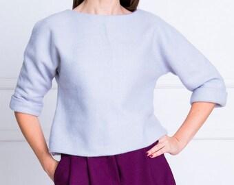 3dc3032372f4eb Angora sweater Fuzzy sweater Angora pullover Crop sweater Boho sweater  Oversize sweater