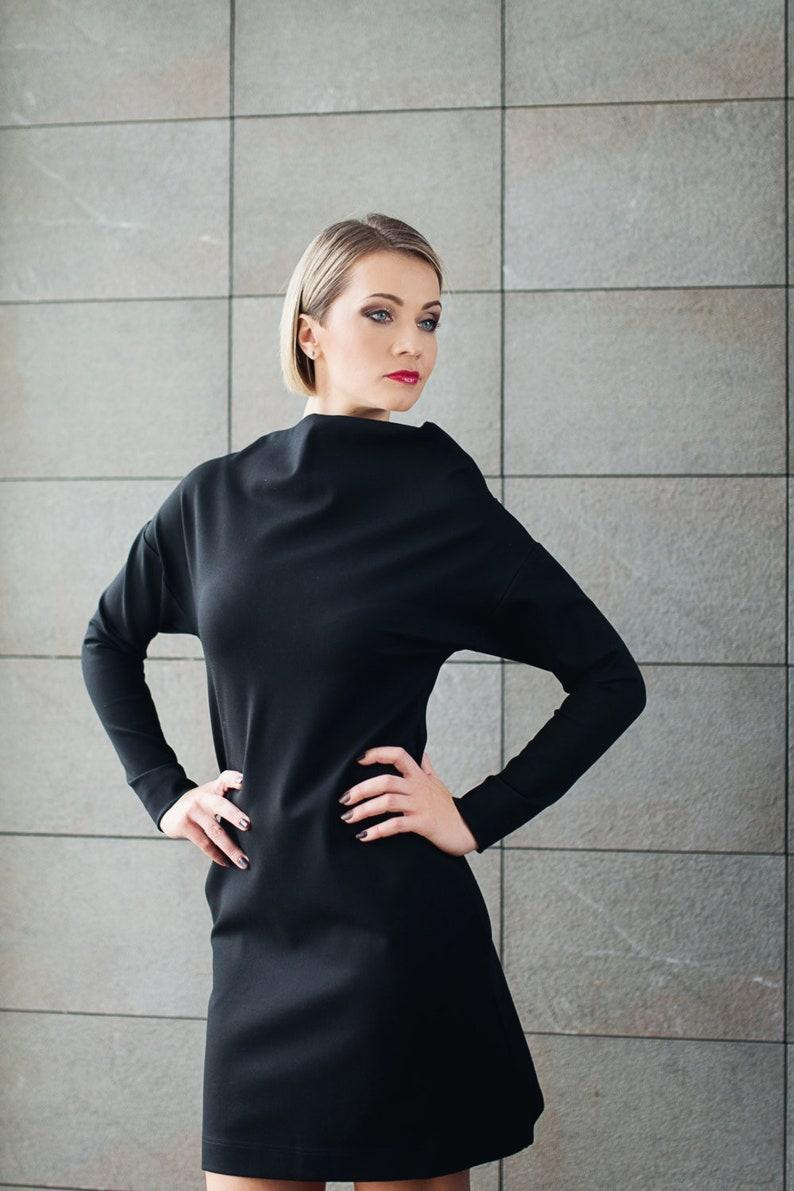 d65f9cd65e63 Schwarz, formelle Kleidung, Abendkleid, Kleidung Frauen, eine Linie Kleid,  kleine schwarze Kleid, Cocktailkleid, trendige Kleid, Loses Kleid