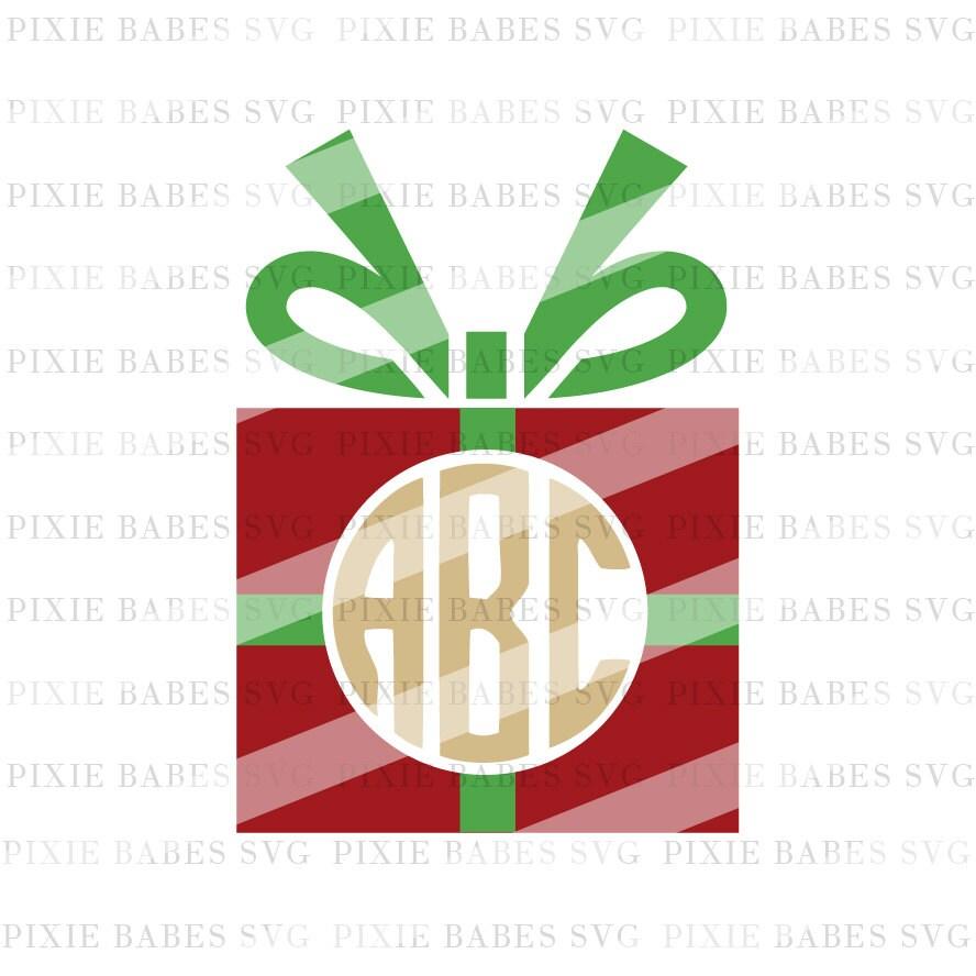 Christmas Monogram SVG Christmas Present svg Holiday svg ...