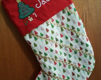 Stocking/Christmas/Quilted/Personalized/Personalized