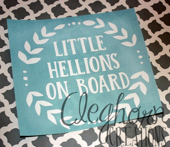 Items Similar To Funny Car Decal Little Hellions On