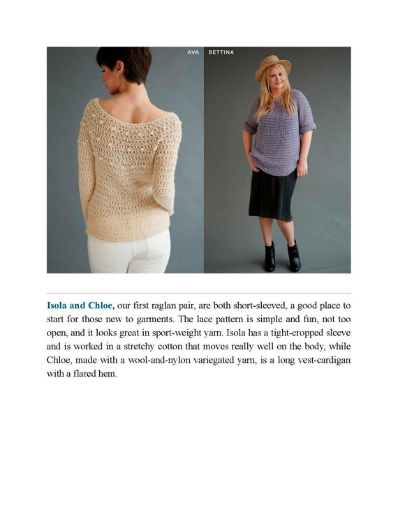 Top Down Crochet Sweaters Fabulous Patterns With Perfect Fit Etsy