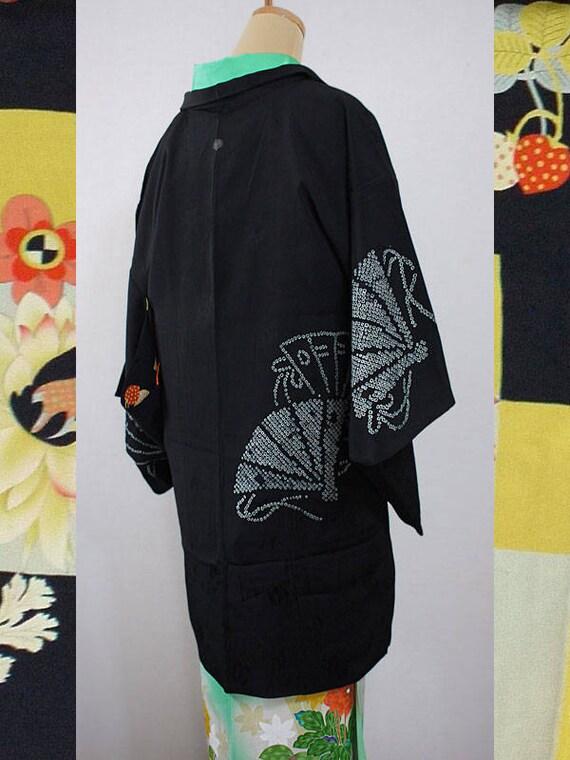 seconde main haori japonais kimono veste pour femmes soie etsy. Black Bedroom Furniture Sets. Home Design Ideas