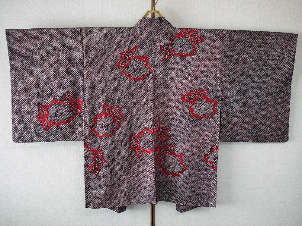 veste kimono haori japonais de seconde main pour femmes etsy. Black Bedroom Furniture Sets. Home Design Ideas