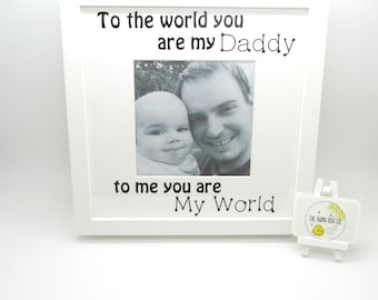 You Are My World Photo Frame | Gifts for Daddy | Gifts for Mummy | Mother's Day Gift | Personalised Gift | Father's Day | Gift For Dad