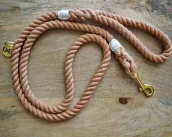 Cotton Rope Dog Leash - Orange | Dog Leash | Dog Lead | Rope Dog Leash | Hand Dyed Cotton Rope | Pet Accessory | Dog Lover Gift |