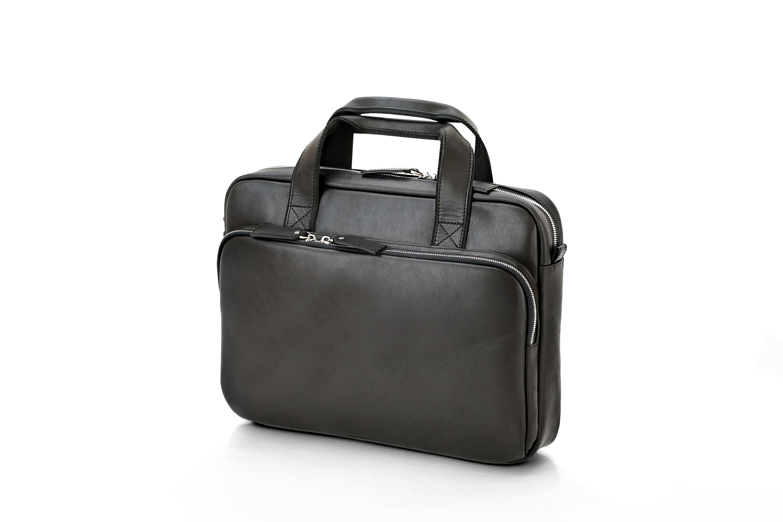 107d9dbfb5 Black Leather Briefcase Professional Messenger bag