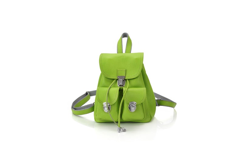 Ladies Mini Rucksack Leather Backpack Compact More colors inside Smart Female Backpack Mini Backpack for Women Small Backpack Purse