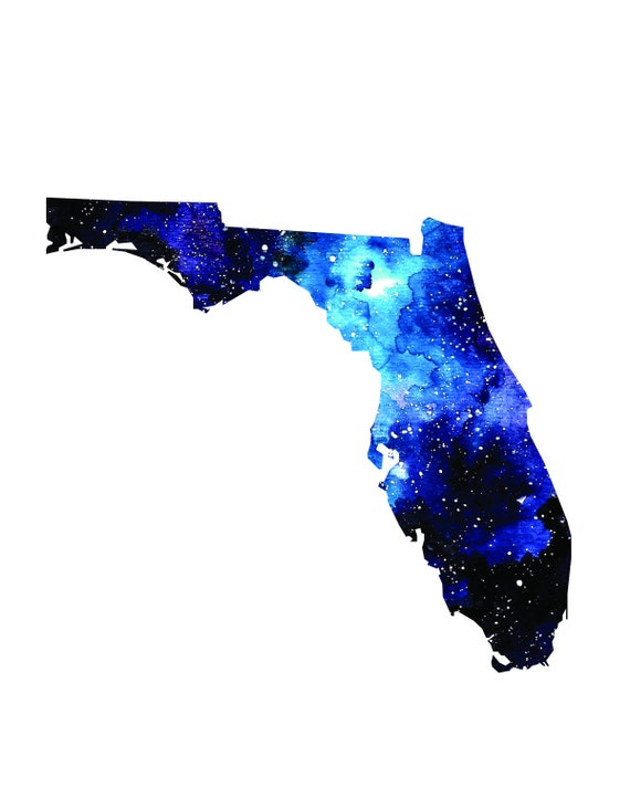 Map Of Watercolor Florida.Florida Art Florida State Map Watercolor Map Florida Poster Etsy