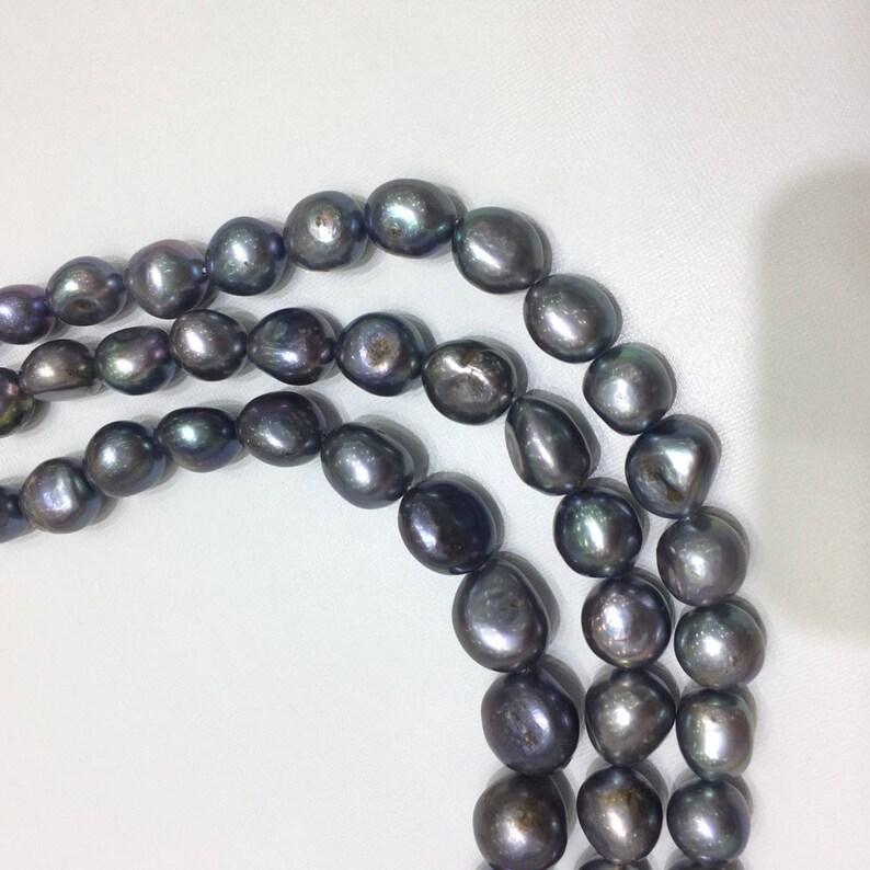 "Natural 8-9mm Blanco Agua Dulce Perlas Cultivadas Real barroco suelta granos 15/"""