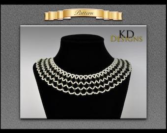 Beaded net necklace pattern
