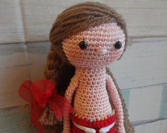 Hand made Little Mermaid. Crochet toys.Hand made dolls.Stuffed toys.