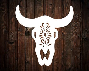 Decorative Cow Skull Decal
