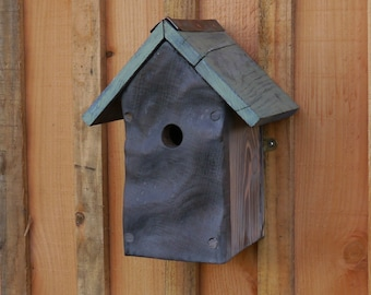 Bird House handcrafted from reclaimed oak