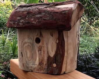 Handcarved Bird house