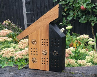 Upcycled Bee Hotel, Insect house, Bug Home, wildlife house
