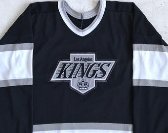 90s L.A. Kings NHL Hockey Jersey. Vintage 1990s Los Angeles Kings Gretzky  Raiders Era Maska CCM NHL Hockey Jersey. 0e3eab091
