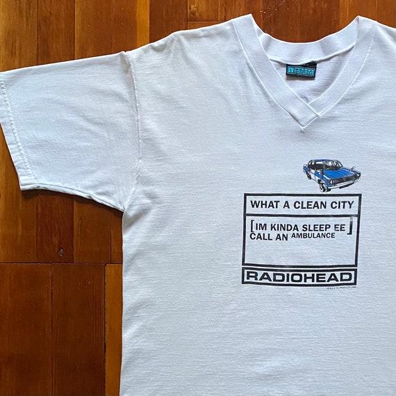 90s Radiohead OK Computer Promo T-Shirt. Vintage 1