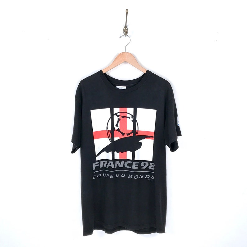 great look shopping footwear 90s Adidas Team England World Cup '98 France T-Shirt. Vintage 1994 Coupe du  Monde France 98 Team England Adidas Football Tee.