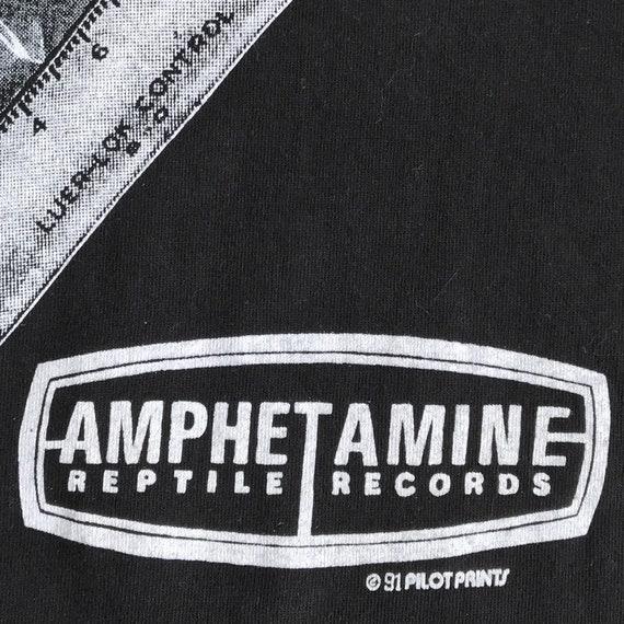 90 s dope dans Guns N baise dans dope les rues Compilation Promo T-Shirt. Point unique millésime 1991 stimulants Reptile Records Logo Tee Punk. e34618