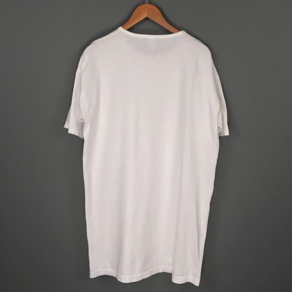 90 s surdimensionné chat Face impression T-Shirt. Vintage des des des années 90 Oversized imprimé chat nuit chemise pyjama Tee. a2d859