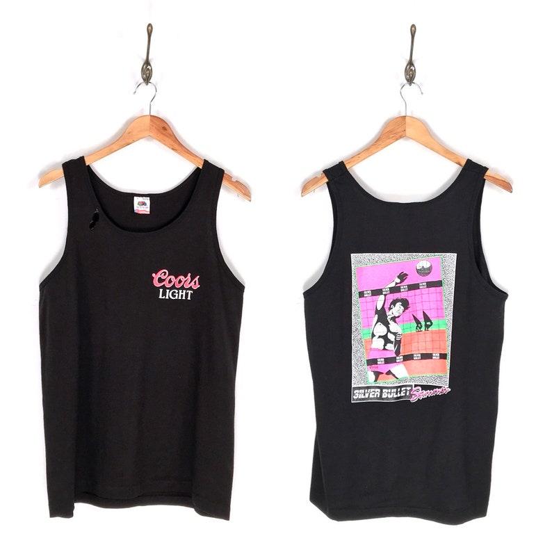 315880010a2 90s Coors Light Silver Bullet Summer Tank Top T-Shirt. Vintage | Etsy