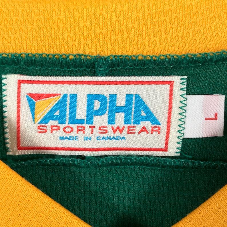 90s Apple MacIntosh Computer Hockey Jersey Vintage 1990s Apple Mac Computers Apple Logo Number 13 Alpha Sportswear Brand Hockey Jersey.