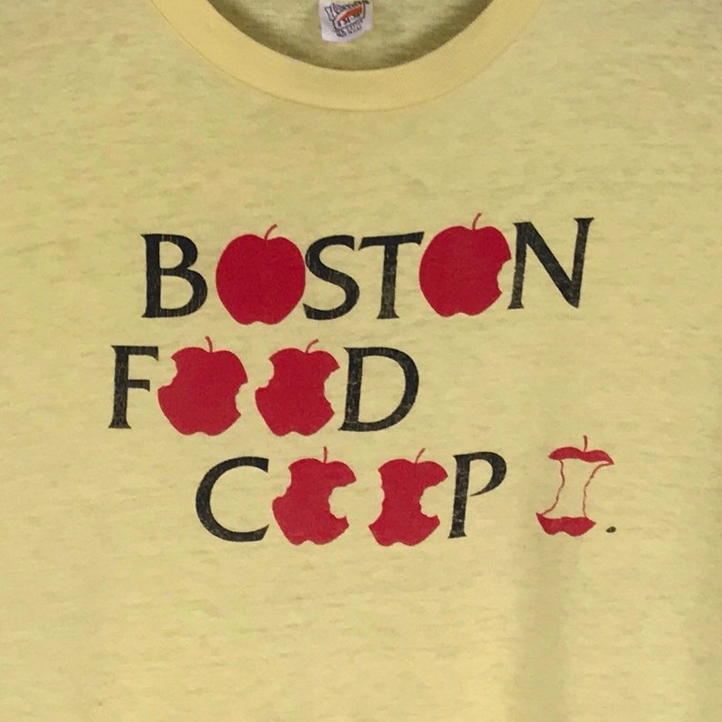 590d656c 70s Boston Food Co-Op T-Shirt. Vintage 1970s Hanes Brand | Etsy